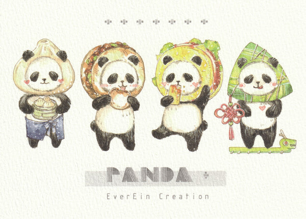 Ever & Ein Postcard - Bear & Panda  Series (P03)