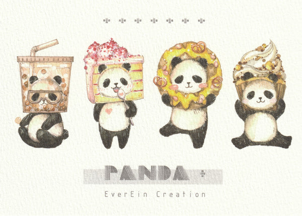Ever & Ein Postcard - Bear & Panda  Series (P04)