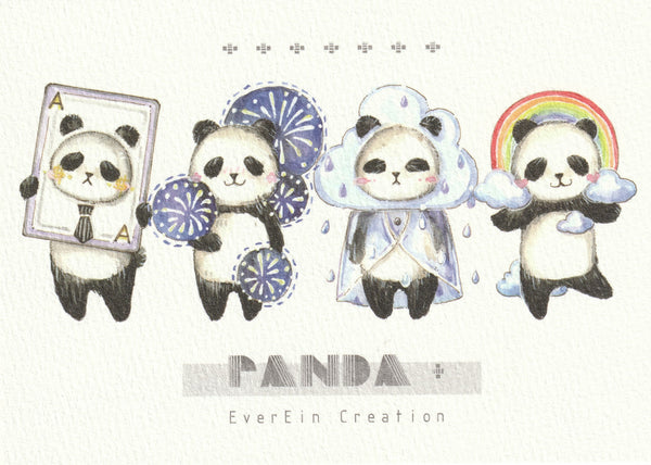 Ever & Ein Postcard - Bear & Panda  Series (P05)