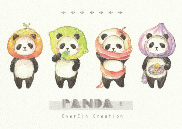 Ever & Ein Postcard - Bear & Panda Series (P06)