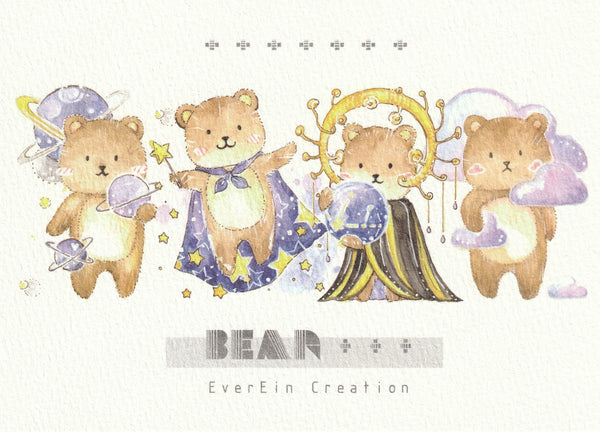 Ever & Ein Postcard - Bear & Panda Series (B04)