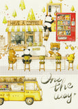 Ever & Ein Postcard - Drawing Series - Cafe Shop