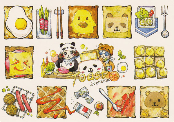 Ever & Ein Postcard - Food Series - Toast Bread