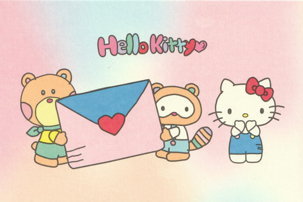 Sanrio - Hello Kitty Postcard - Rainbow Mail