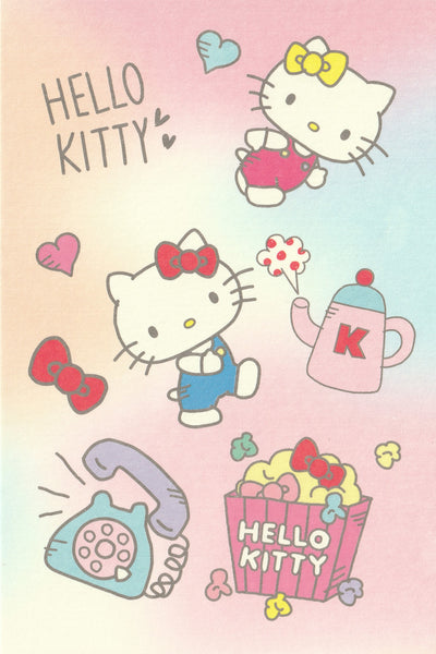 Sanrio - Hello Kitty Postcard - Rainbow Tea Time
