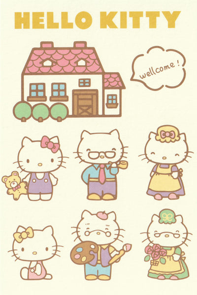 Sanrio - Hello Kitty Postcard - Family Portrait