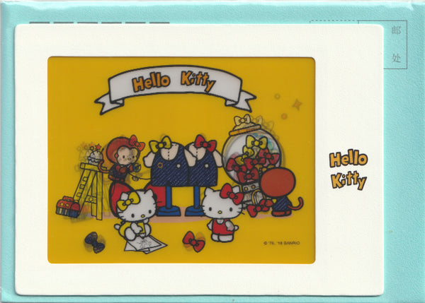 3D design postcard - Hello Kitty & Mimi