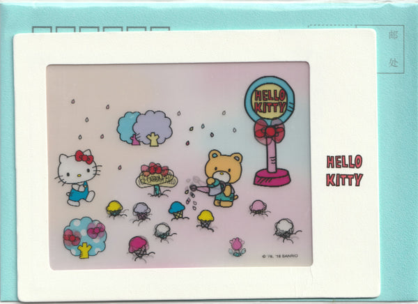 3D design postcard - Hello Kitty