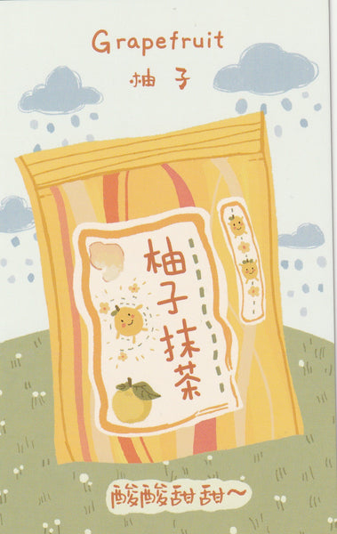 Japanese Snacks Postcard Series - Grapefruit Candy
