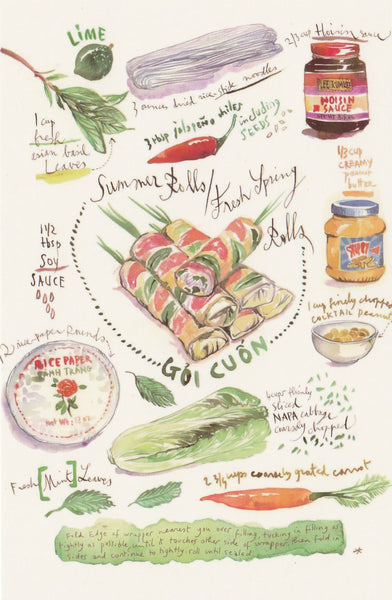 Food Recipe Postcard - Gui Cuon
