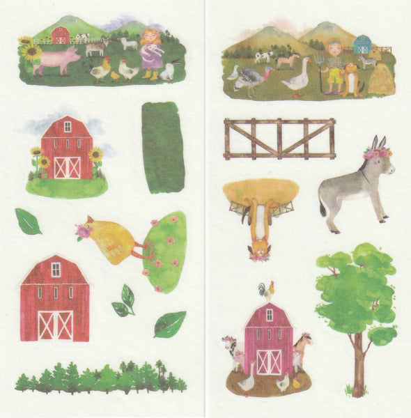 [FREE with US$10 purchase!] Farmhouse - Sticker Set A