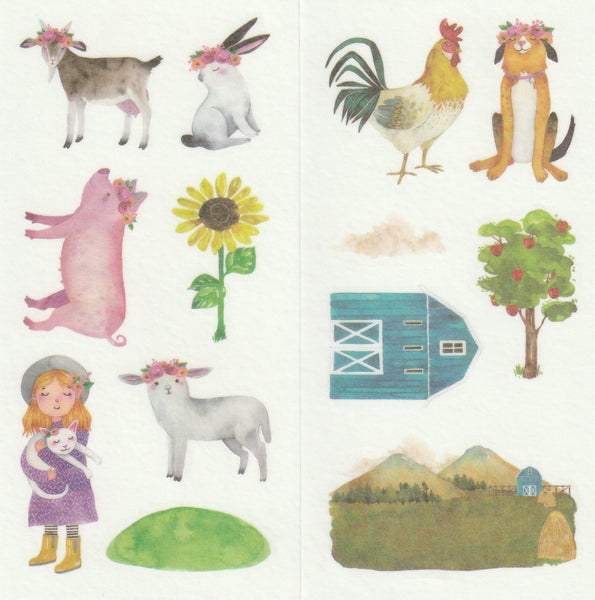 [FREE with US$10 purchase!] Farmhouse - Sticker Set B