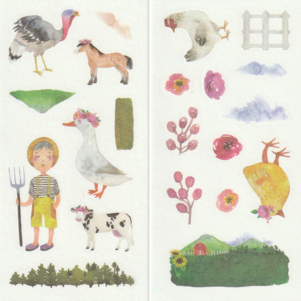 [FREE with US$10 purchase!] Farmhouse - Sticker Set C