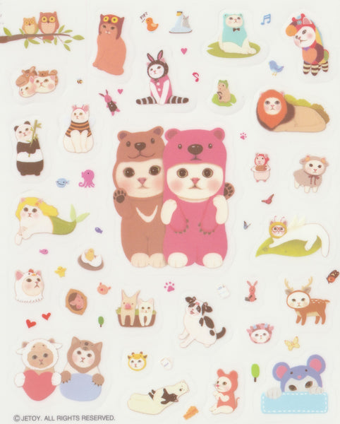 [FREE with US$10 purchase!] The Jetoy Cats Sticker Sheet D