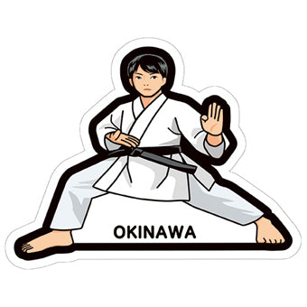 Japan Gotochi (Okinawa) Postcard - Limited Edition - Karate Taekwondo