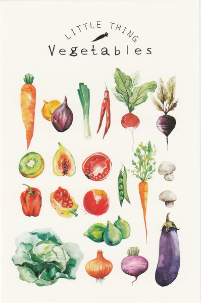 Little Thing Postcard Collection - Vegetables