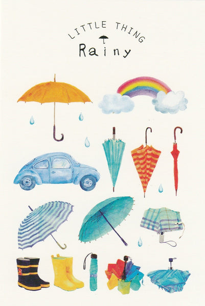 Little Thing Postcard Collection - Rainy Day