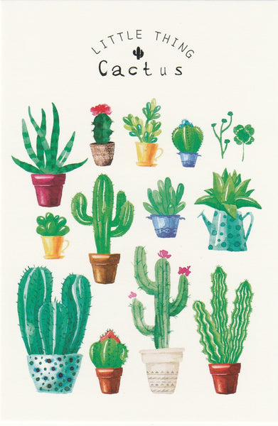 Little Thing Postcard Collection - Cactus Garden