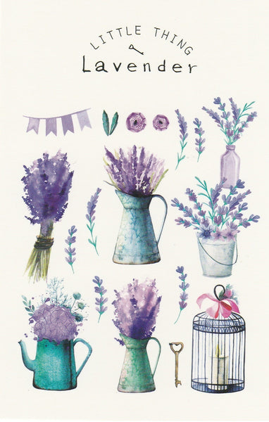 Little Thing Postcard Collection - Lavender Flowers