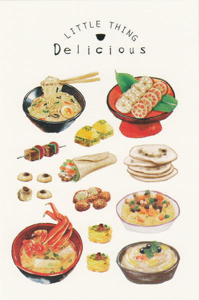 Little Thing Postcard Collection - Delicious Food