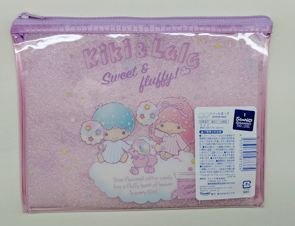 [FREE with USD30 purchase!] Sanrio Little Twin Stars Kiki & Lala (Cotton Candy) Pouch