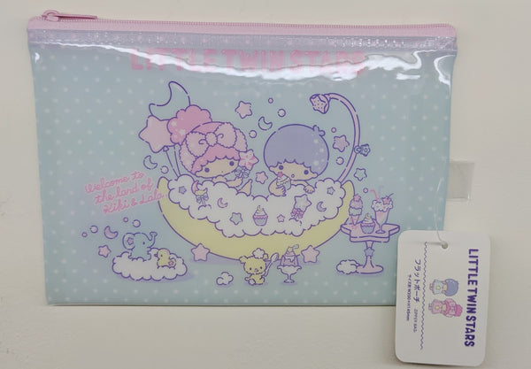 [FREE with USD30 purchase!] Sanrio Little Twin Stars Kiki & Lala (Ice Cream) Pouch