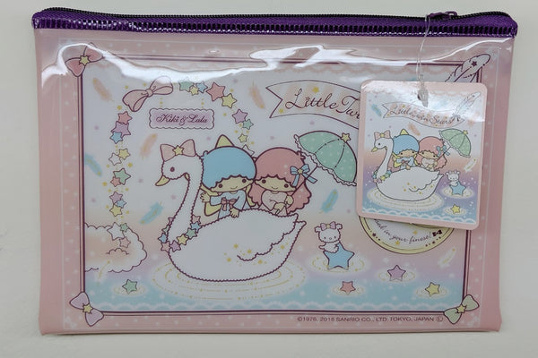 [FREE with USD30 purchase!] Sanrio Little Twin Stars Kiki & Lala (Swan) Pouch
