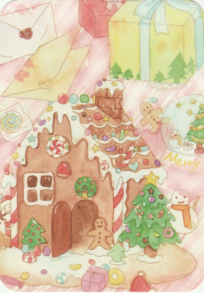 Marmara Gingerbread House Christmas Postcard