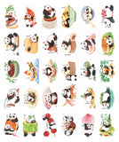 Panda Illustrated Postcard Collection - CP09
