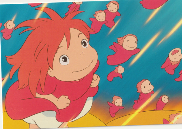 Studio Ghibli - Ponyo on the Cliff Postcard (3/6)