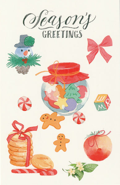 Seasons Greetings Postcard - Christmas Cookies