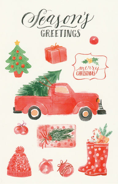 Seasons Greetings Postcard - Christmas Tree Shopping