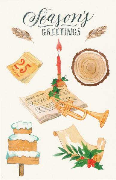 Seasons Greetings Postcard - Christmas Day