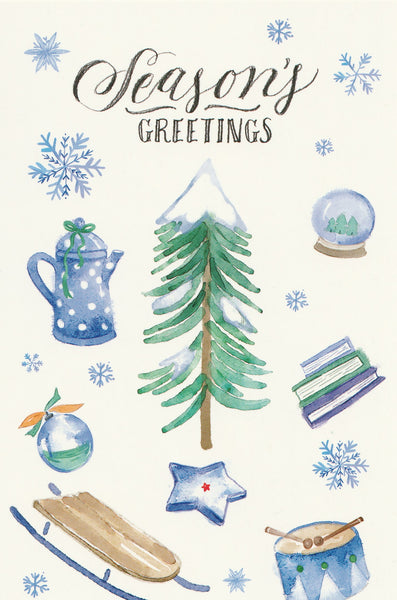 Seasons Greetings Postcard - Christmas Tree