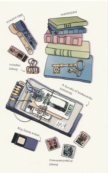 Stationery Illustration Postcard - Washi Tapes & Postcards