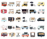Food Trucks Postcard Collection - Kaffe Kaffe