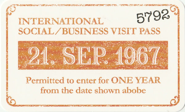 Travel Memories - T10 - International Social Business Visit Pass Postcard