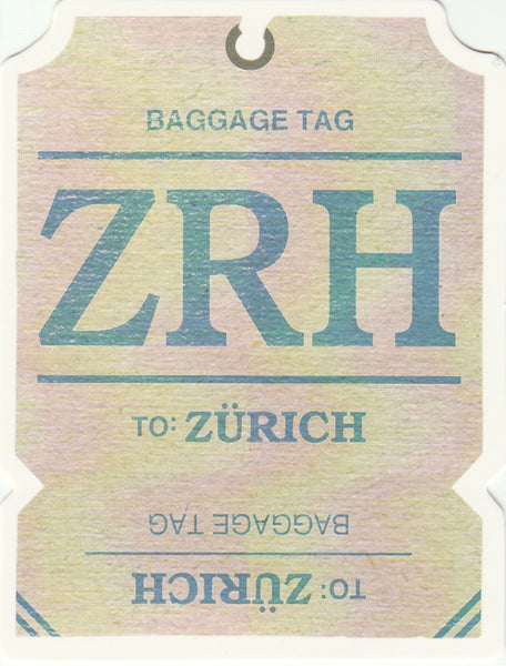 Travel Memories - T15 - Zurich Luggage Tag Postcard