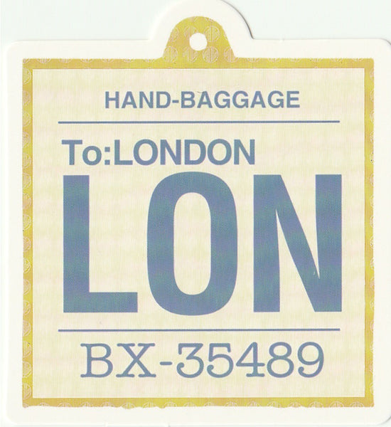 Travel Memories - T16 - London Luggage Tag Postcard