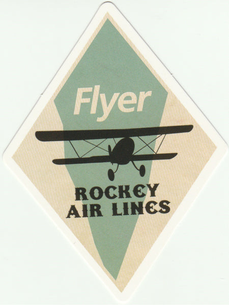Travel Memories - T23 - FLyer Rockey Airline Postcard