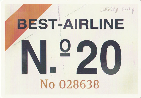 Travel Memories - T09 - Best Airline Postcard