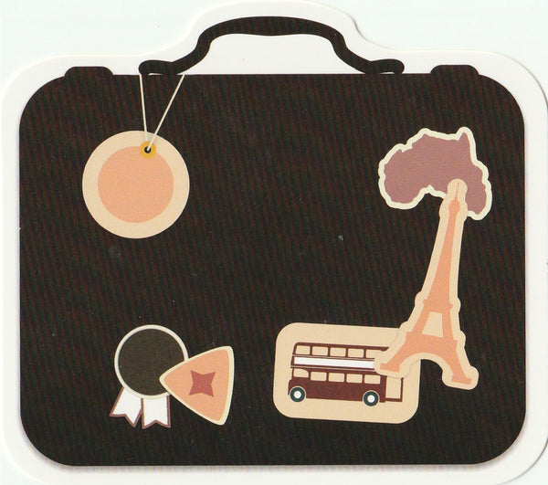 Travel Suitcase Postcard Collection CLT05
