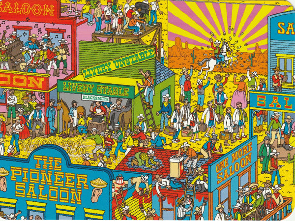 Where's Wally Postcard (BWP10) - The Wild Wild West