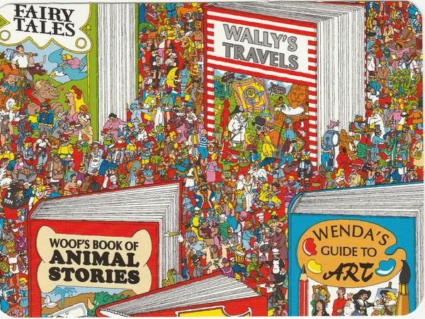 Where's Wally Postcard (BWP12) - Once Upon A Page