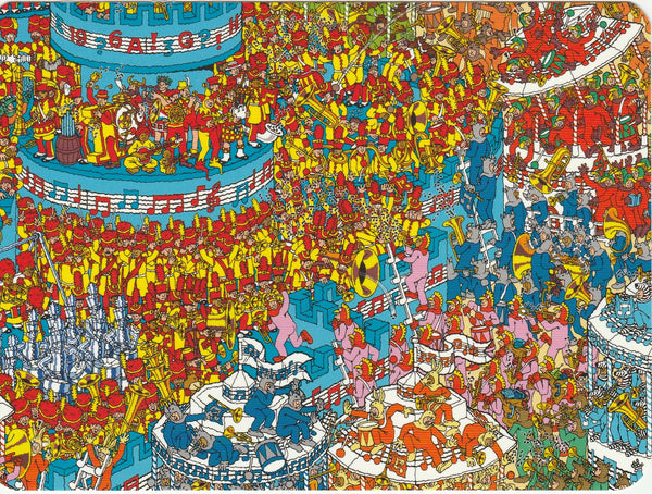 Where's Wally Postcard (BWP16) - The Battle of the Bands