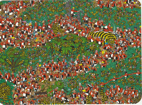 Where's Wally Postcard (BWP17) - The Odlaw Swamp