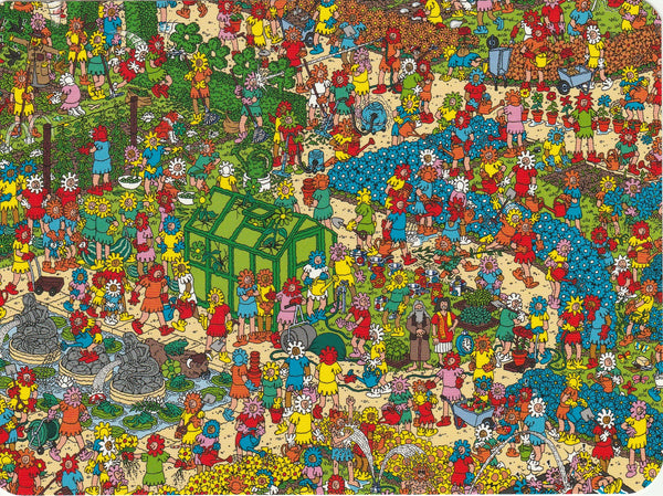 Where's Wally Postcard (BWP19) - The Fantastic Flower Garden