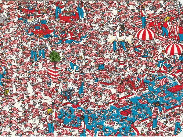 Where's Wally Postcard (BWP21) - The Land of Woofs