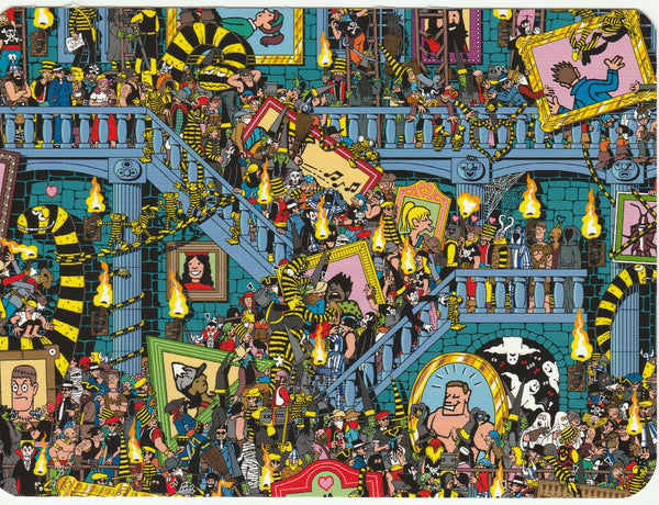 Where's Wally Postcard (BWP22) - Odlaw's Picture Pandemonium