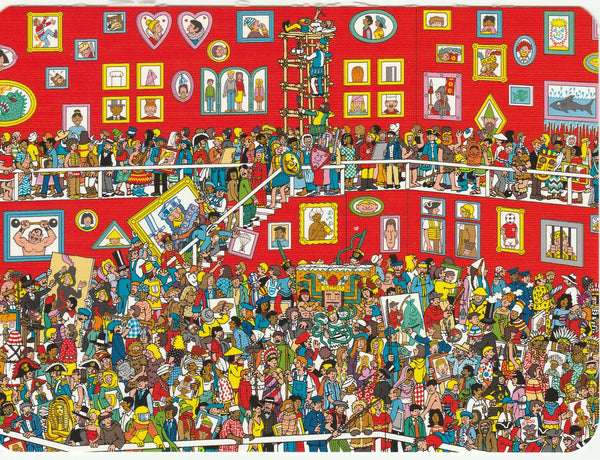 Where's Wally Postcard (BWP25) - The Great Portrait Exhibition